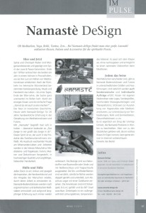 Namasté DeSign (Wege 3-2014)
